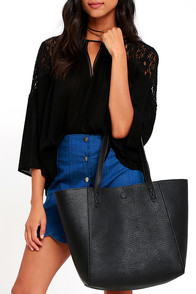 image Cool and Composed Black Tote