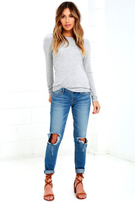 Dittos Selena Blue Destroyed Ankle Skinny Jeans