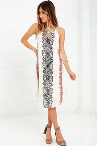 image O'Neill Nicole Cream Print Midi Dress