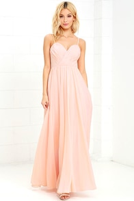 image Nod and Wink Peach Maxi Dress