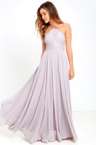 image Everlasting Enchantment Grey Maxi Dress