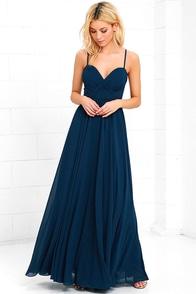 image Nod and Wink Navy Blue Maxi Dress