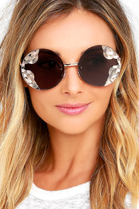 image Spitfire British Riviera Gold and Brown Round Sunglasses