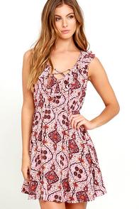 Artisan Inspiration Light Pink Print Dress