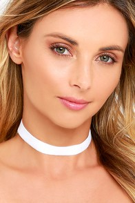 image Vanessa Mooney Loving You White Velvet Choker Necklace