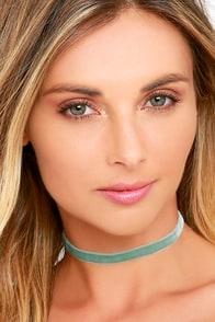 image Vanessa Mooney My All Mint Velvet Choker Necklace