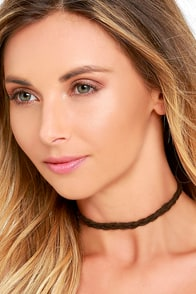 image Vanessa Mooney Take Care Brown Choker Necklace