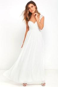 image Novela White Lace Maxi Dress