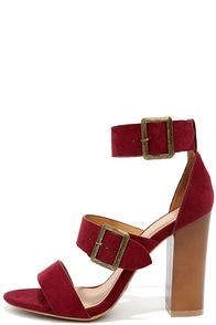To the Top Burgundy Suede High Heel Sandals