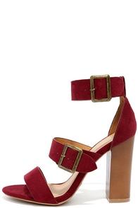 To the Top Burgundy Suede High Heel Sandals