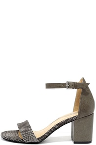 image CL by Laundry Laundry Jessie Charcoal Snake Ankle Strap Heels
