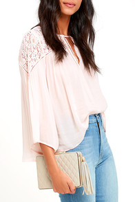 Form and Function Beige Quilted Clutch