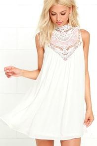 image Asana White Lace Swing Dress