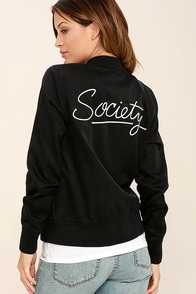 Amuse Society Axel Black Bomber Jacket