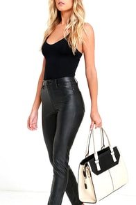 image Pretty Neat Black and Beige Handbag