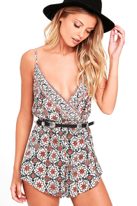 Amuse Society Sundaze Cream Print Romper at Lulus.com!