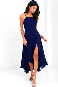 image Treat You Better Royal Blue High-Low Dress