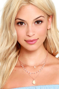 Decked Out Rose Gold Layered Necklace