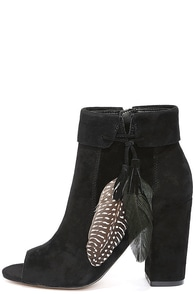 image Jessica Simpson Kailey Black Suede Leather Booties
