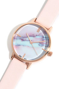 image Carrara Gold and Blush Pink Watch
