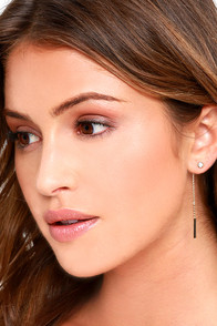 image Curious Babe Gold Rhinestone Peekaboo Earrings