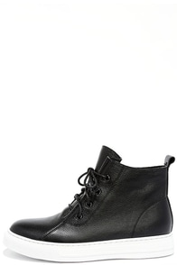 image Dirty Laundry Festival Black Leather High-Top Sneakers