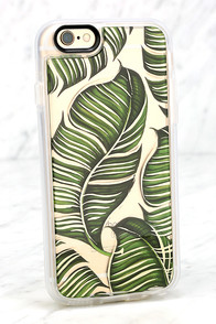 Casetify Banana Leaves Clear and Green iPhone 6 and 6s Case