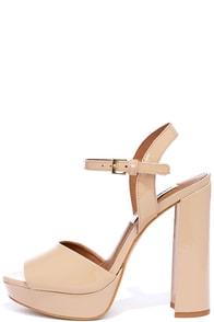 Steve Madden Kierra Blush Patent Leather Platform Heels