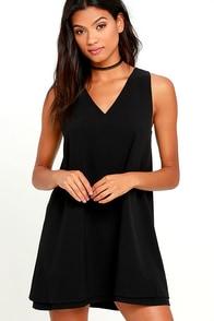 BB Dakota Palma Black Shift Dress