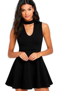 Loving You is Easy Black Skater Dress