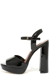 Steve Madden Kierra Black Patent Leather Platform Heels