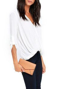Chic Choice Tan Clutch