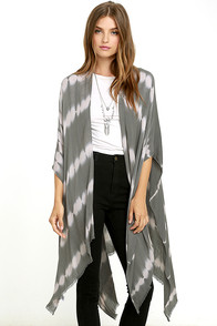 image Gentle Fawn Gallery Khaki Tie-Dye Kimono Scarf
