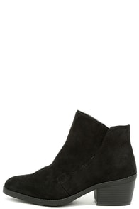 Madden Girl Boloo Black Suede Ankle Booties