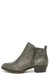 image Madden Girl Boleroo Pewter Ankle Booties