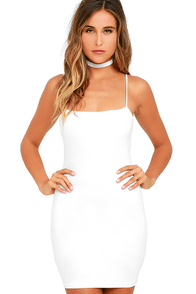 Flaunt It Ivory Bodycon Dress