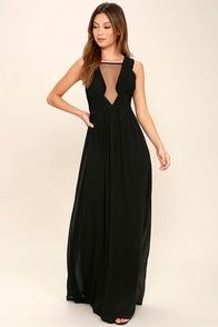 Dazzling Decadence Black Maxi Dress