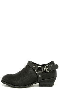 Very Volatile Haisley Black Ankle Booties