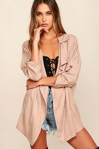 Lucky Break Blush Oversized Jacket