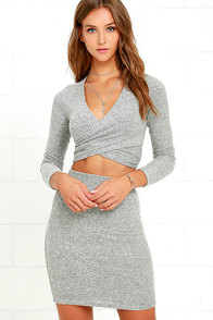 Arabesque Heather Grey Two-Piece Dress