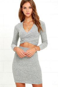 Arabesque Heather Grey Two-Piece Dress
