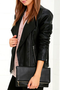 Get Up and Go Black Clutch