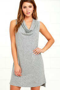 Z Supply Brooklyn Heather Grey Sleeveless Dress