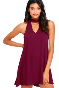 Groove Thing Magenta Swing Dress