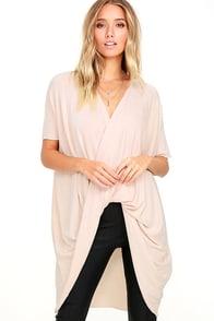 Consideration Light Blush Wrap Sweater