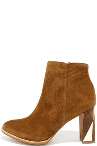 Matisse Metric Fawn Tan Suede Leather Booties