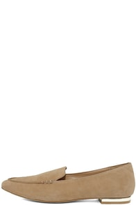 Steve Madden Fausto Camel Suede Leather Loafers