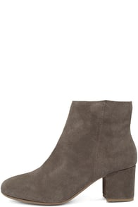 Steve Madden Holster Grey Suede Leather Ankle Booties