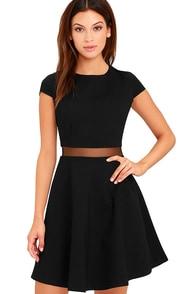 Legendary Lovers Black Skater Dress