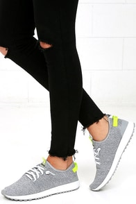 Coolway Tahali Silver Knit Sneakers Image